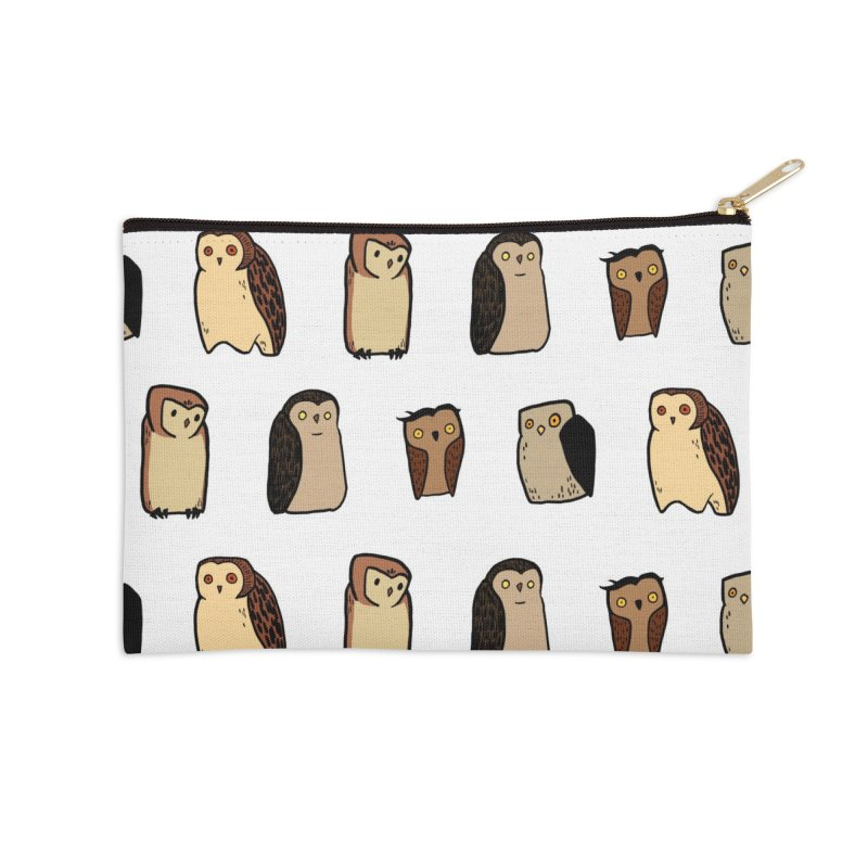 Owl Gang Accessories Zip Pouch by lysandraws presents: crass commercialism!