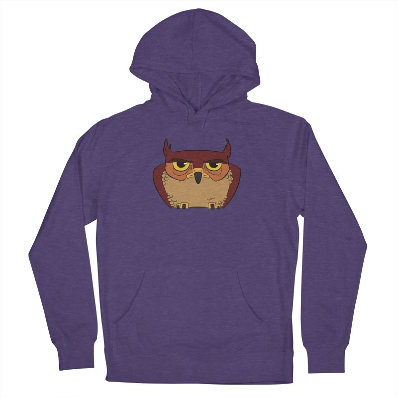 Grumpy Owl Women's French Terry Pullover Hoody by lysandraws presents: crass commercialism!