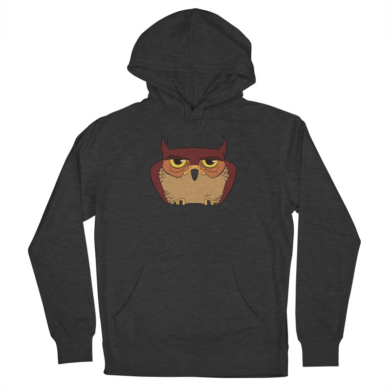 Grumpy Owl Men's French Terry Pullover Hoody by lysandraws presents: crass commercialism!