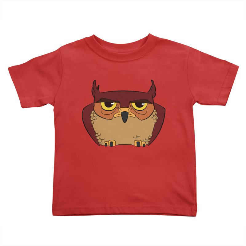 Grumpy Owl Kids Toddler T-Shirt by lysandraws presents: crass commercialism!