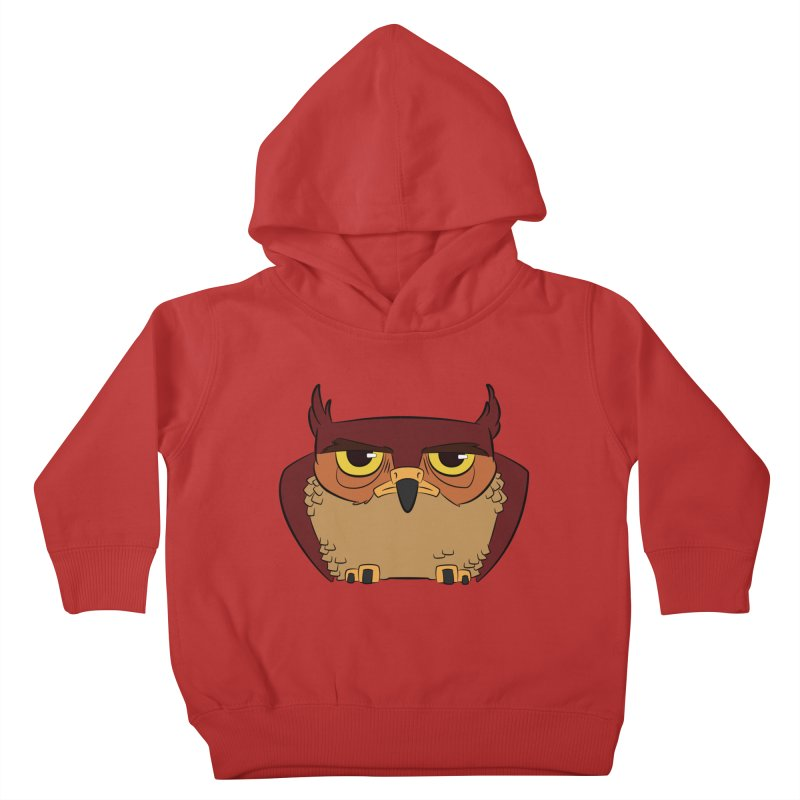 Grumpy Owl Kids Toddler Pullover Hoody by lysandraws presents: crass commercialism!