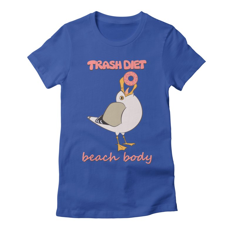 TRASH DIET, BEACH BODY Women's Fitted T-Shirt by lysandraws presents: crass commercialism!