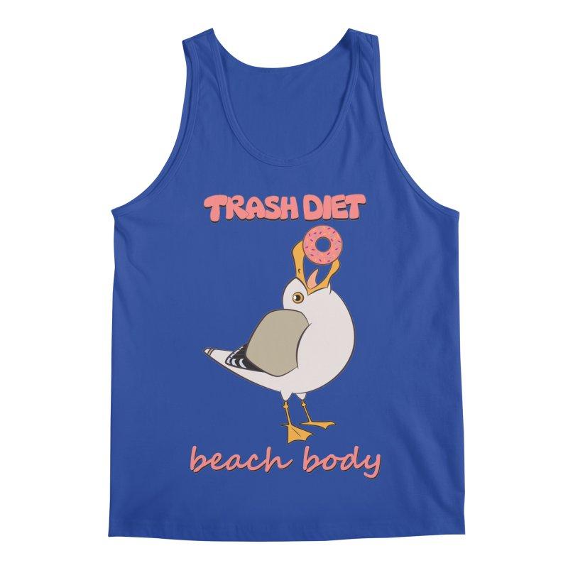 TRASH DIET, BEACH BODY Men's Regular Tank by lysandraws presents: crass commercialism!