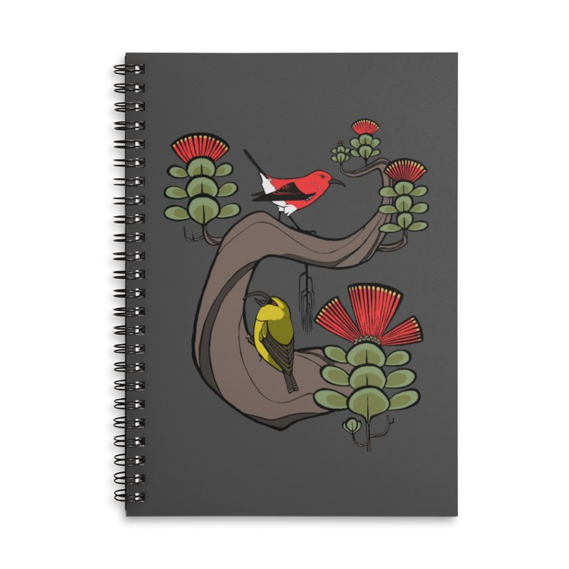 Oh, Hawaii... Accessories Lined Spiral Notebook by lysandraws presents: crass commercialism!