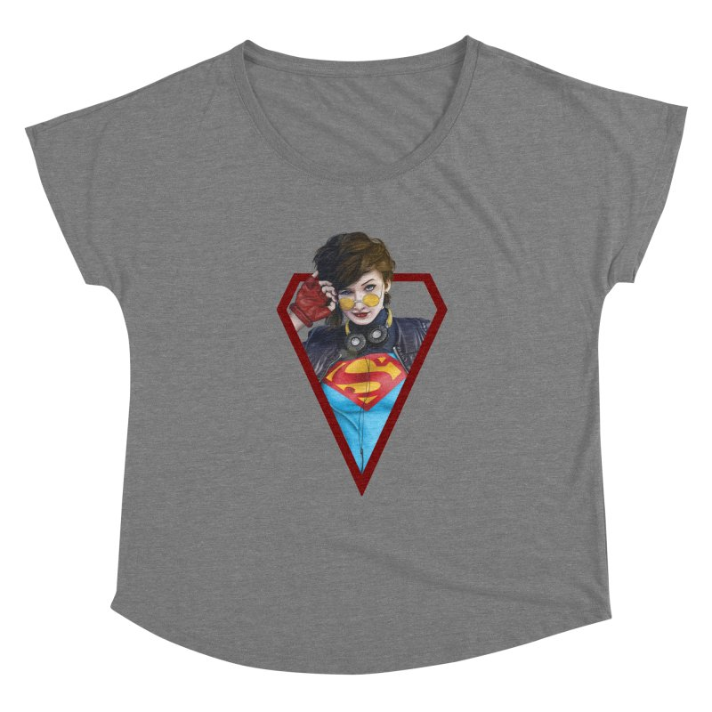 Supergirl Women's Scoop Neck by M4tiko's Artist Shop