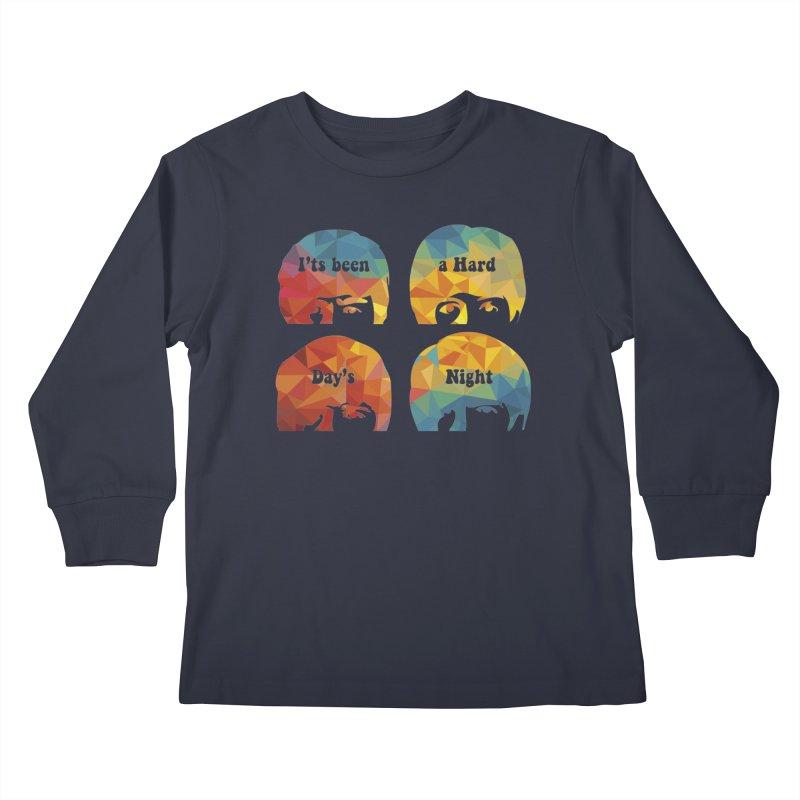 A Hard Day's Night Kids Longsleeve T-Shirt by M4tiko's Artist Shop