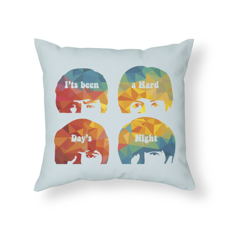 A Hard Day's Night Home Throw Pillow by M4tiko's Artist Shop