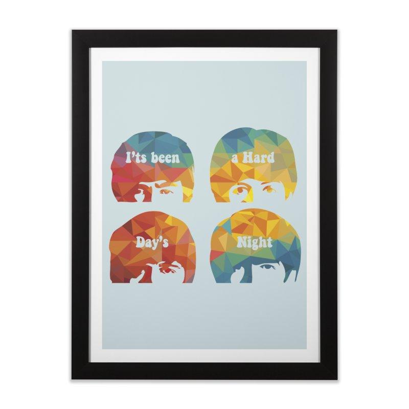 A Hard Day's Night Home Framed Fine Art Print by M4tiko's Artist Shop
