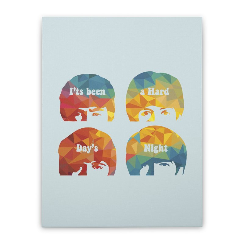 A Hard Day's Night Home Stretched Canvas by M4tiko's Artist Shop