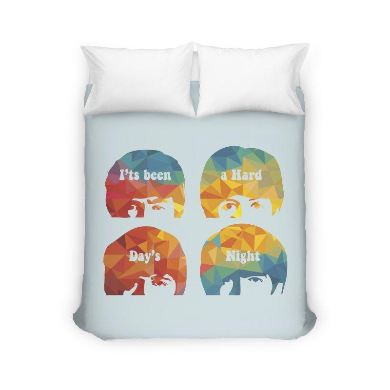 A Hard Day's Night Home Duvet by M4tiko's Artist Shop