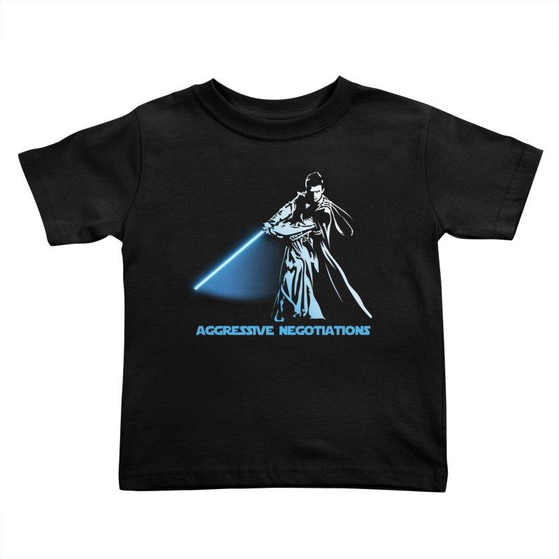 Aggressive Negotiations Kids Toddler T-Shirt by M4tiko's Artist Shop