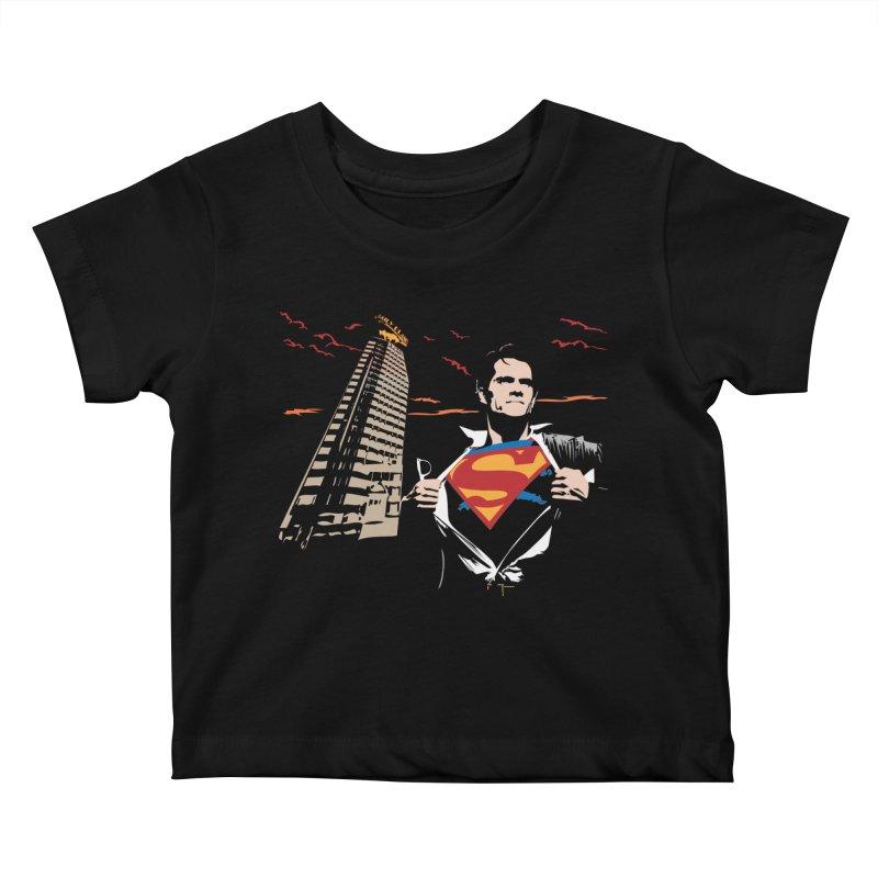 Superman Kids Baby T-Shirt by M4tiko's Artist Shop