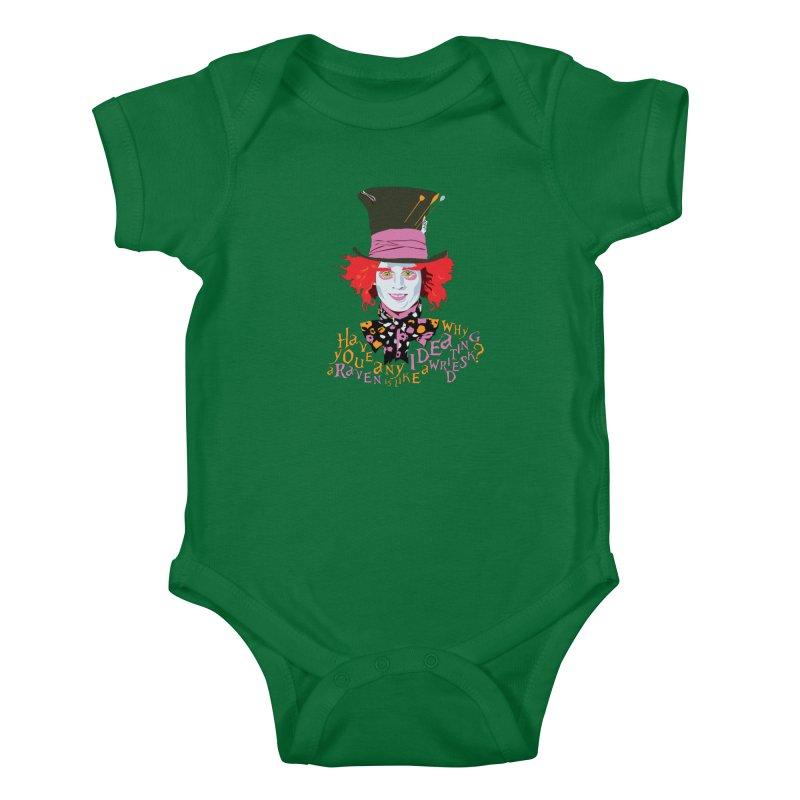 Mad Hatter Kids Baby Bodysuit by M4tiko's Artist Shop