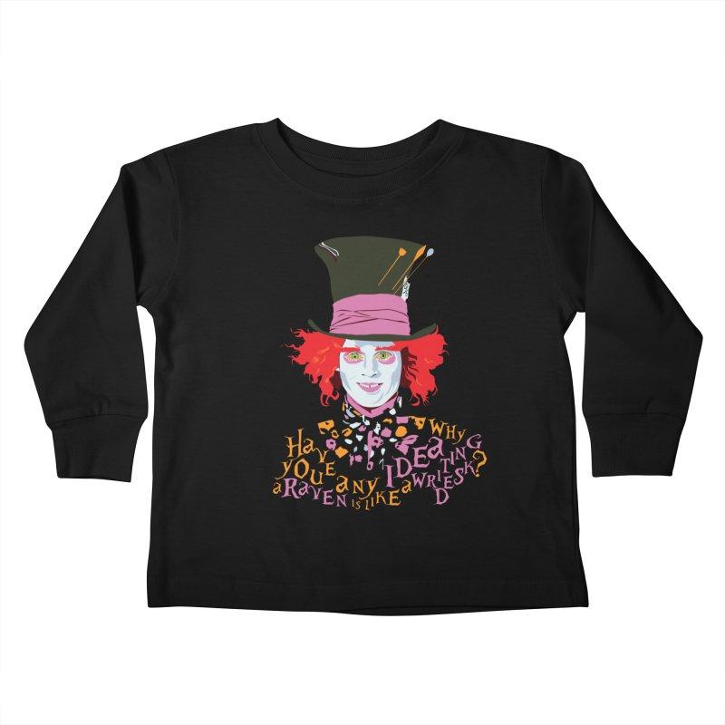 Mad Hatter Kids Toddler Longsleeve T-Shirt by M4tiko's Artist Shop