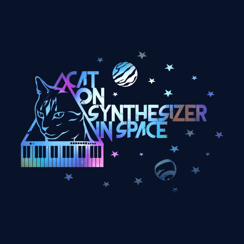 Cat on synthesizer Kids Toddler T-Shirt by M4tiko's Artist Shop