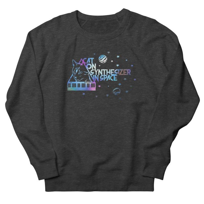 Cat on synthesizer Women's Sweatshirt by M4tiko's Artist Shop