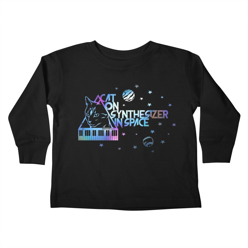 Cat on synthesizer Kids Toddler Longsleeve T-Shirt by M4tiko's Artist Shop