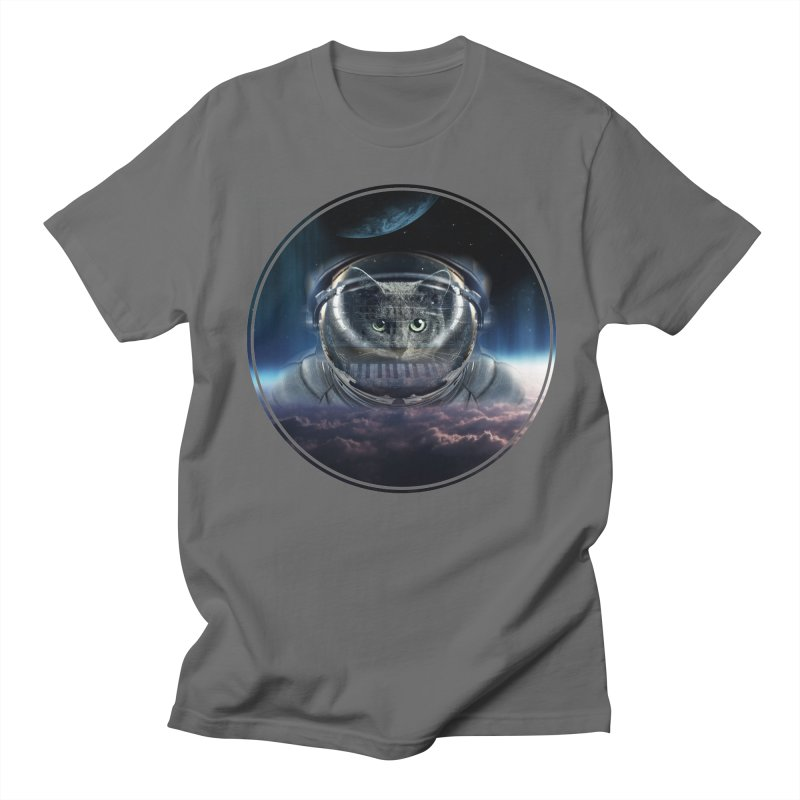 Cat on Synthesizer in Space Men's T-Shirt by M4tiko's Artist Shop