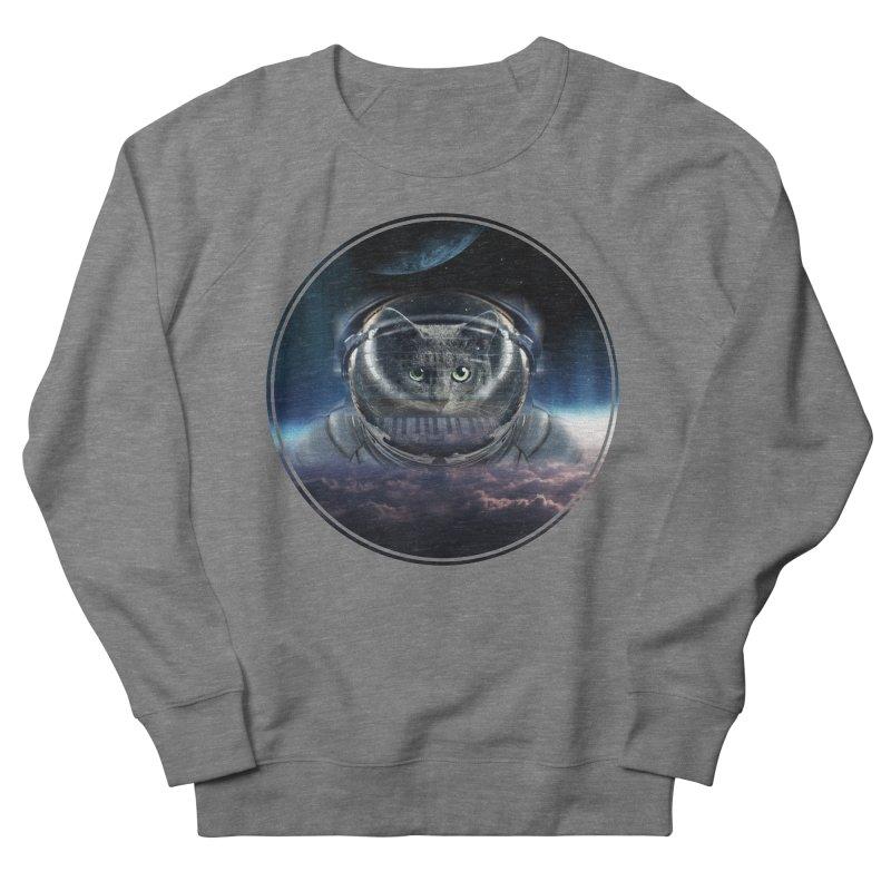 Cat on Synthesizer in Space Women's Sweatshirt by M4tiko's Artist Shop