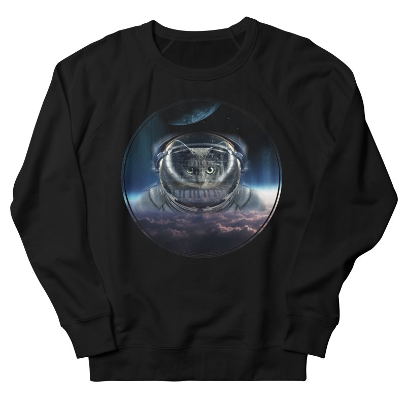 Cat on Synthesizer in Space Women's Sweatshirt by M4tiko's Artist Shop