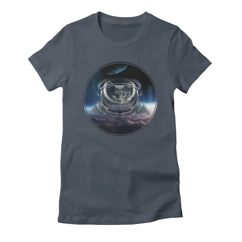 Cat on Synthesizer in Space Women's T-Shirt by M4tiko's Artist Shop