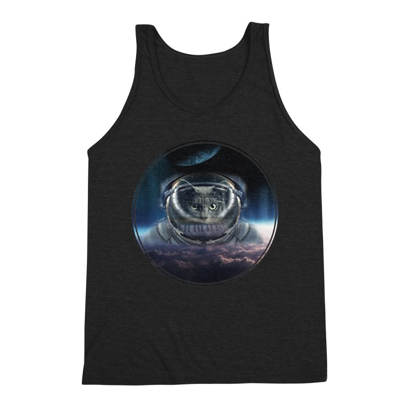 Cat on Synthesizer in Space Men's Tank by M4tiko's Artist Shop