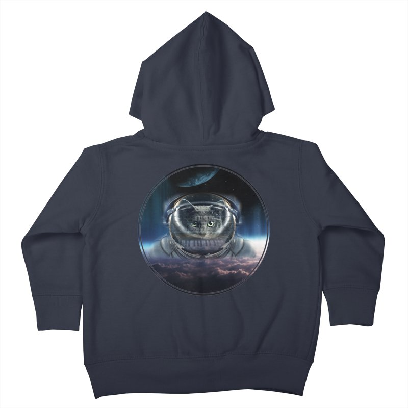 Cat on Synthesizer in Space Kids Toddler Zip-Up Hoody by M4tiko's Artist Shop