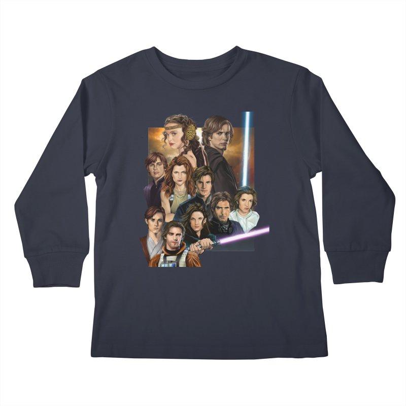 Skywalkers Kids Longsleeve T-Shirt by M4tiko's Artist Shop