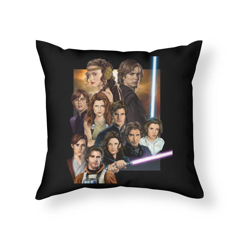 Skywalkers Home Throw Pillow by M4tiko's Artist Shop