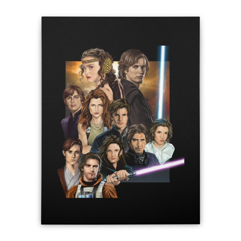 Skywalkers Home Stretched Canvas by M4tiko's Artist Shop