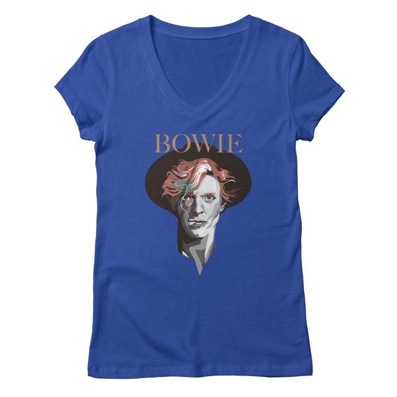 Just Bowie Women's V-Neck by M4tiko's Artist Shop