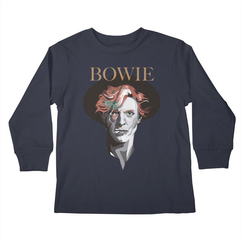 Just Bowie Kids Longsleeve T-Shirt by M4tiko's Artist Shop
