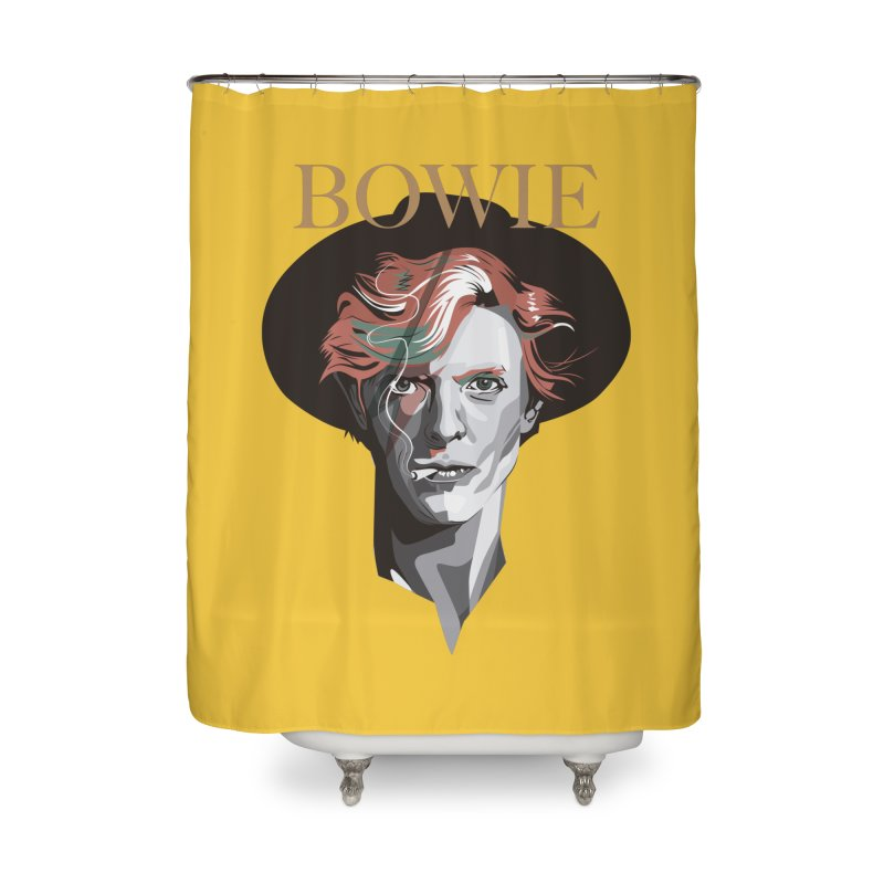 Just Bowie Home Shower Curtain by M4tiko's Artist Shop
