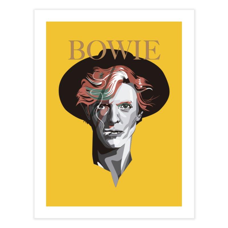 Just Bowie Home Fine Art Print by M4tiko's Artist Shop