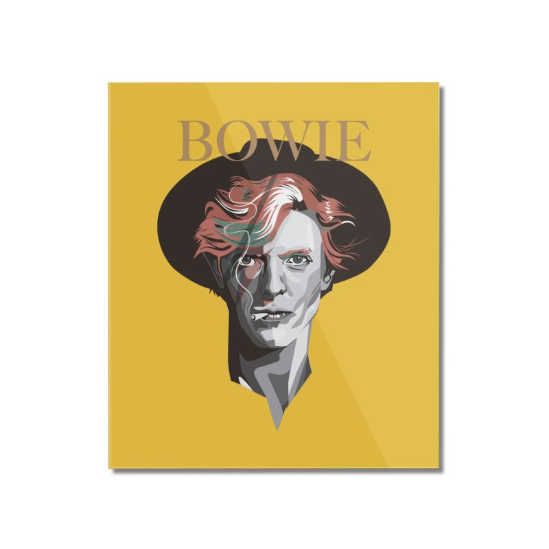 Just Bowie Home Mounted Acrylic Print by M4tiko's Artist Shop