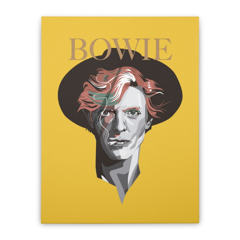 Just Bowie Home Stretched Canvas by M4tiko's Artist Shop