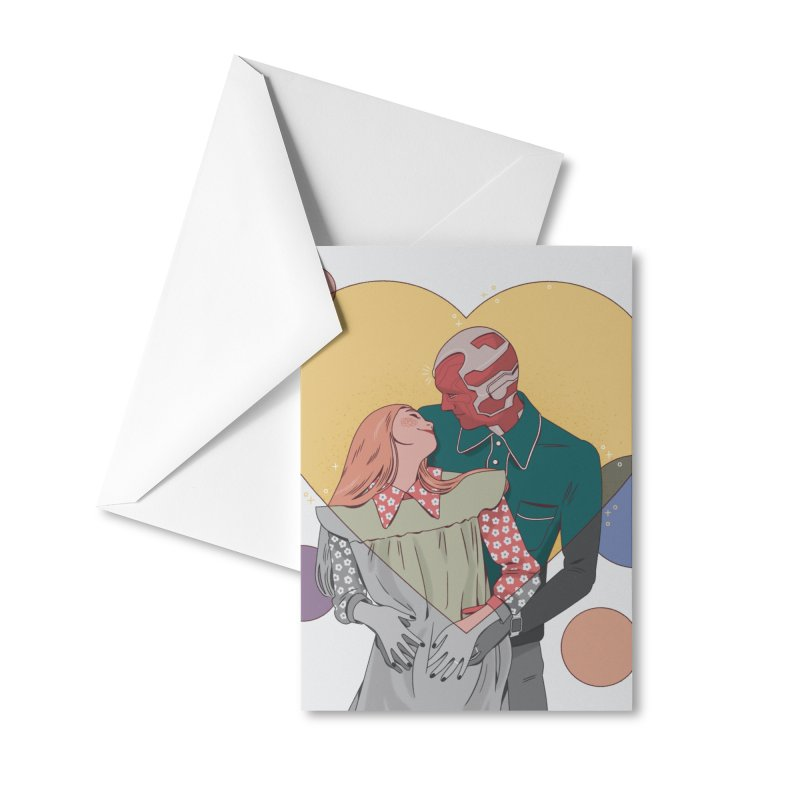 Wandavision Accessories Greeting Card by Marta Barrales Illustration