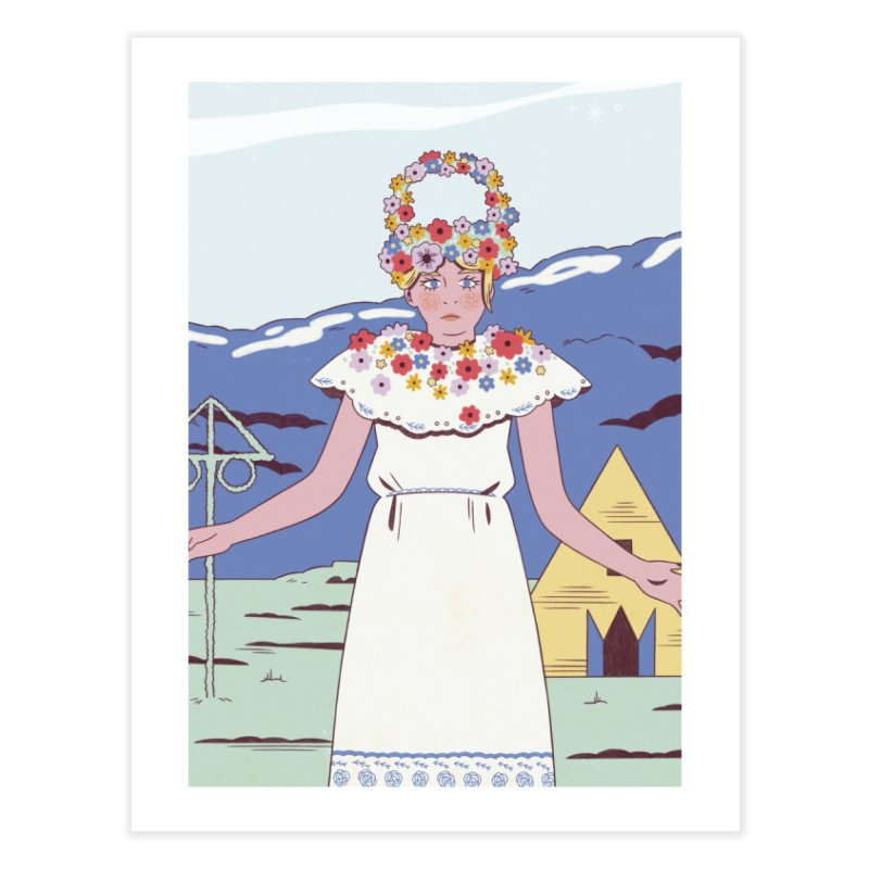 Midsommar Home Fine Art Print by Marta Barrales Illustration
