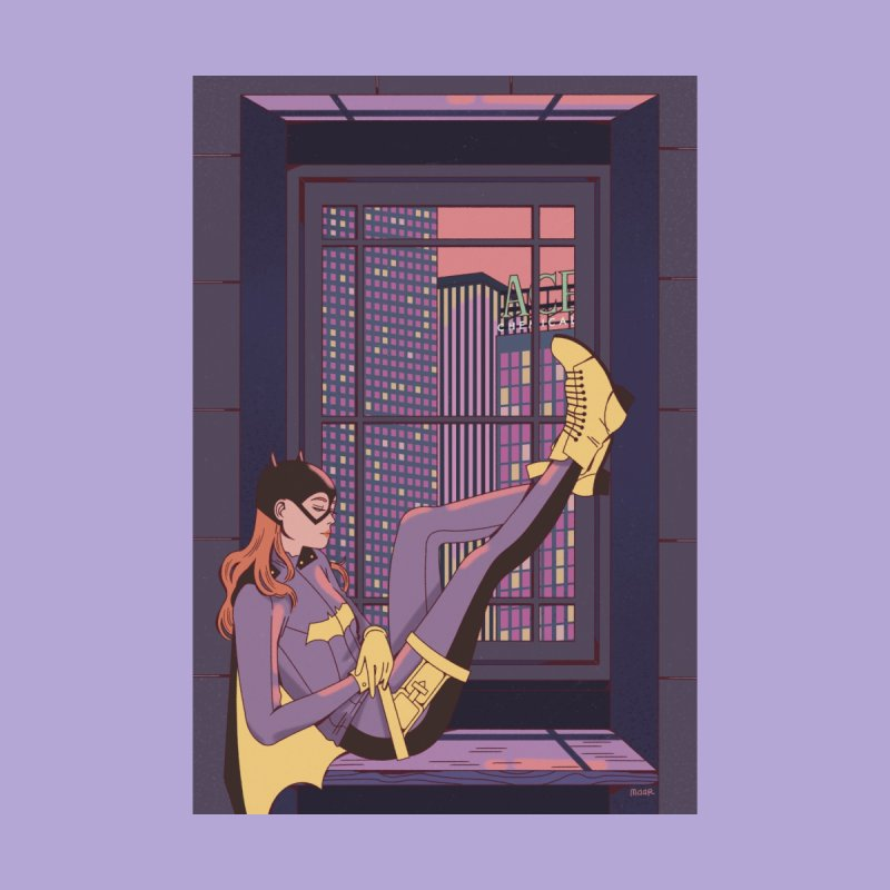 Batgirl Home Fine Art Print by Marta Barrales Illustration