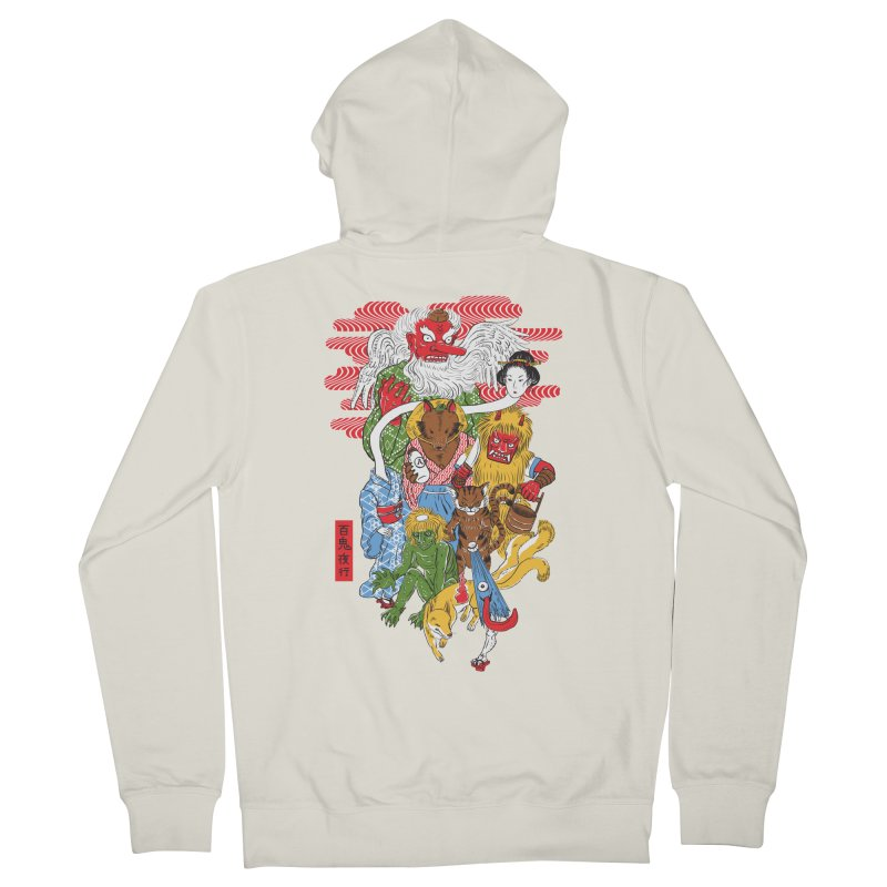 Monster Parade Men's Zip-Up Hoody by maarika's Artist Shop