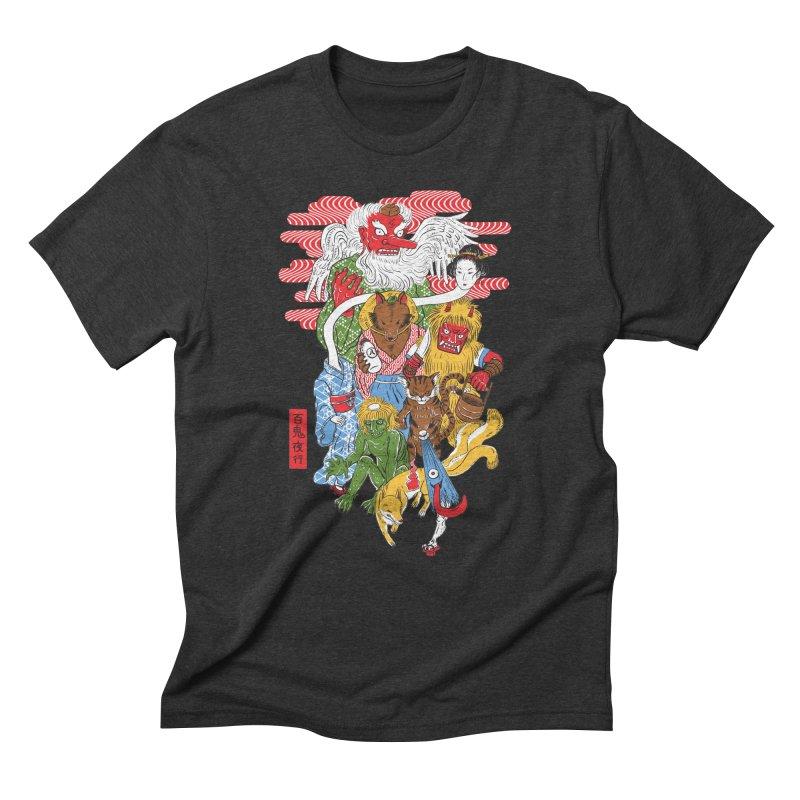 Monster Parade Men's Triblend T-Shirt by maarika's Artist Shop