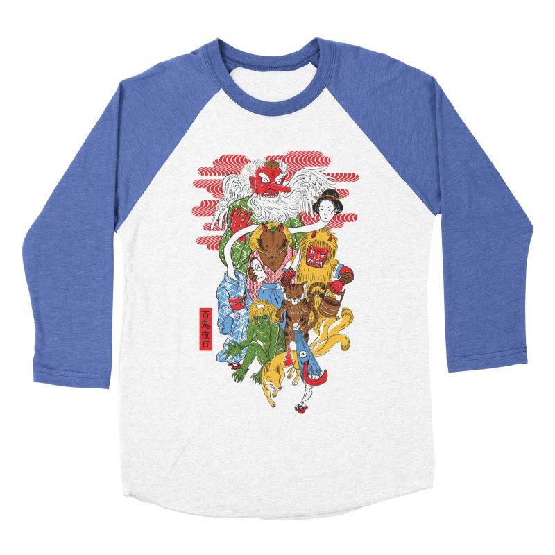 Monster Parade Men's Baseball Triblend T-Shirt by maarika's Artist Shop