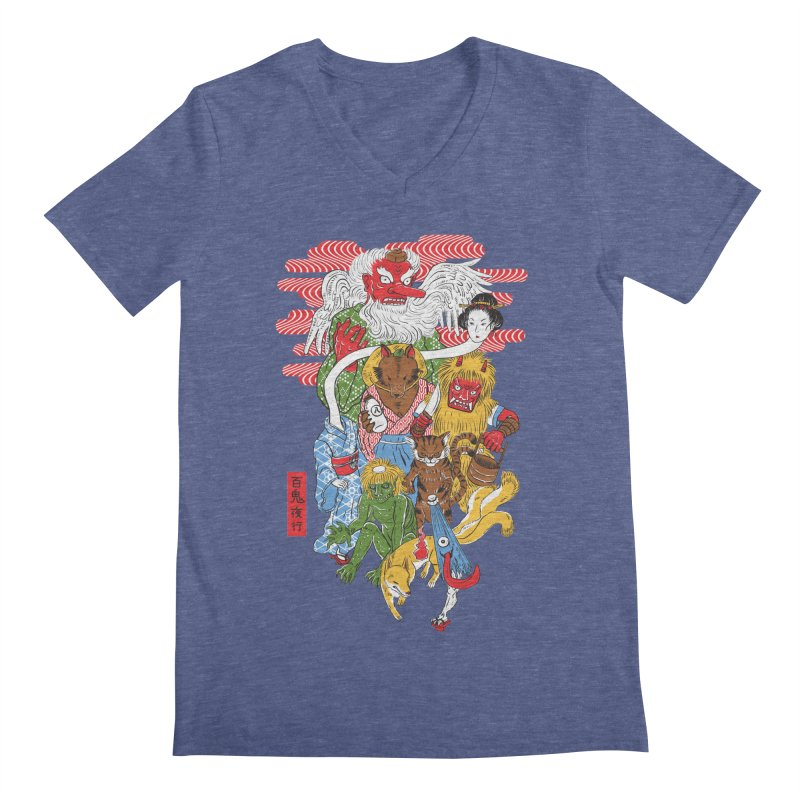 Monster Parade Men's V-Neck by maarika's Artist Shop