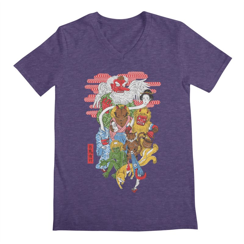 Monster Parade Men's V-Neck by maarika's Artist Shop