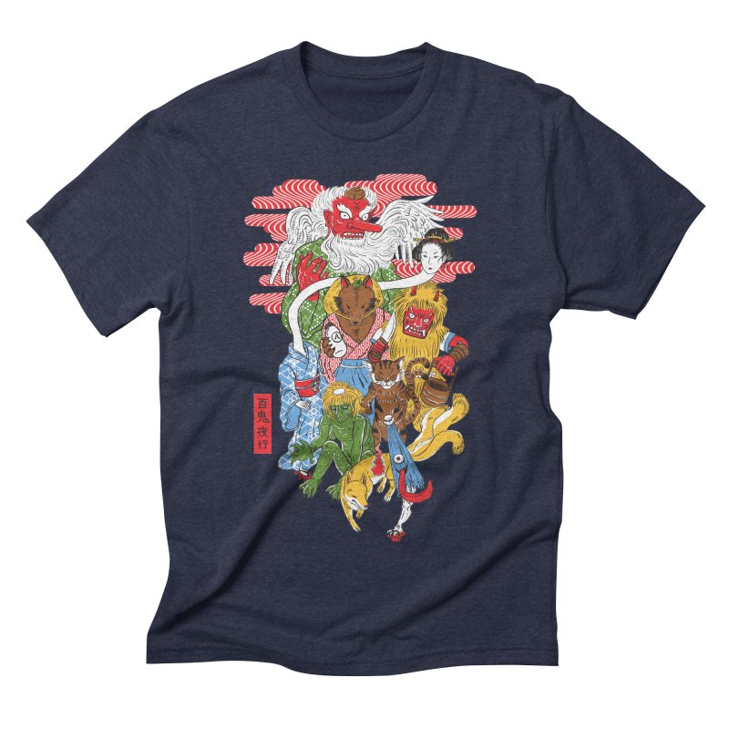 Monster Parade Men's Triblend T-shirt by maarika's Artist Shop