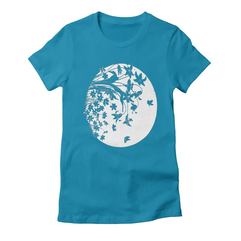 fleurs Women's Fitted T-Shirt by Maat Haas: The Shop