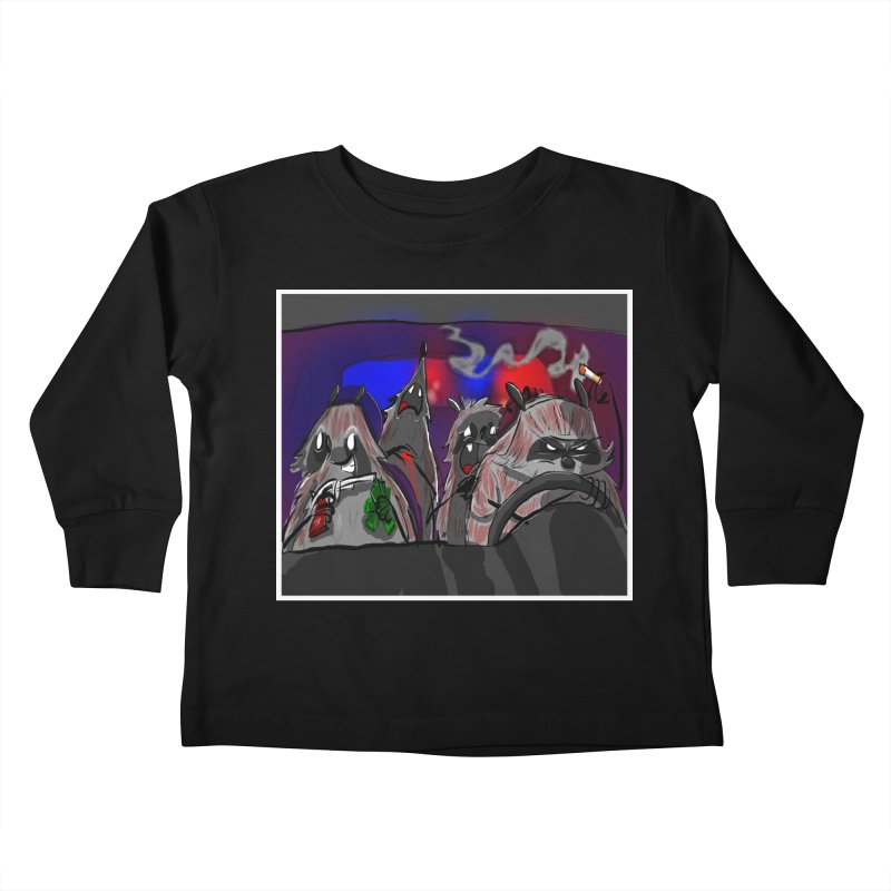 raccoon wedding Kids Toddler Longsleeve T-Shirt by Maat Haas: The Shop