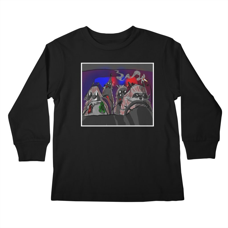 raccoon wedding Kids Longsleeve T-Shirt by Maat Haas: The Shop