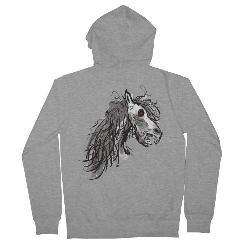horse Men's French Terry Zip-Up Hoody by Maat Haas: The Shop