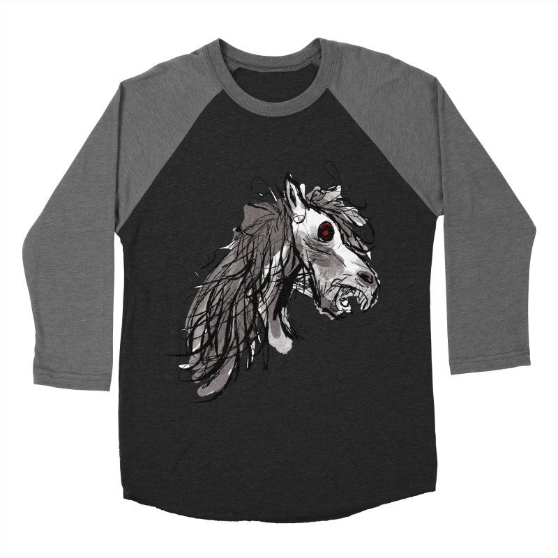horse Men's Baseball Triblend T-Shirt by Maat Haas: The Shop